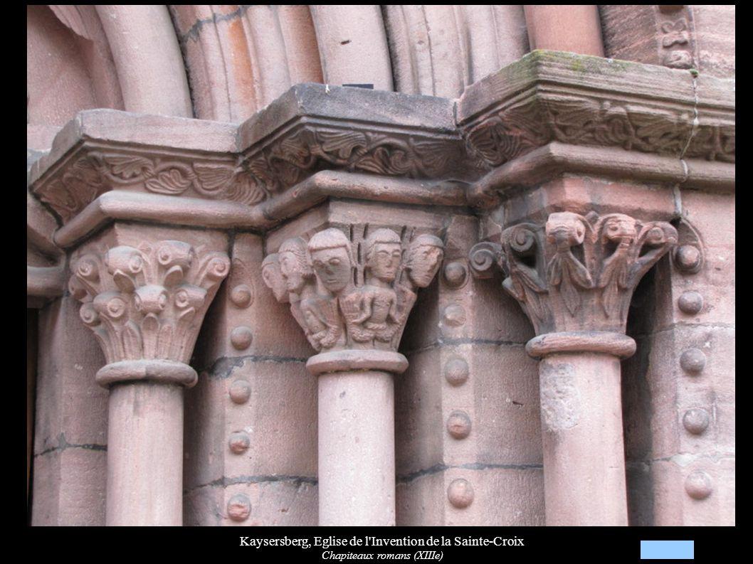 Kaysersberg, Eglise de l Invention de la Sainte-Croix Chapiteaux romans (XIIIe)
