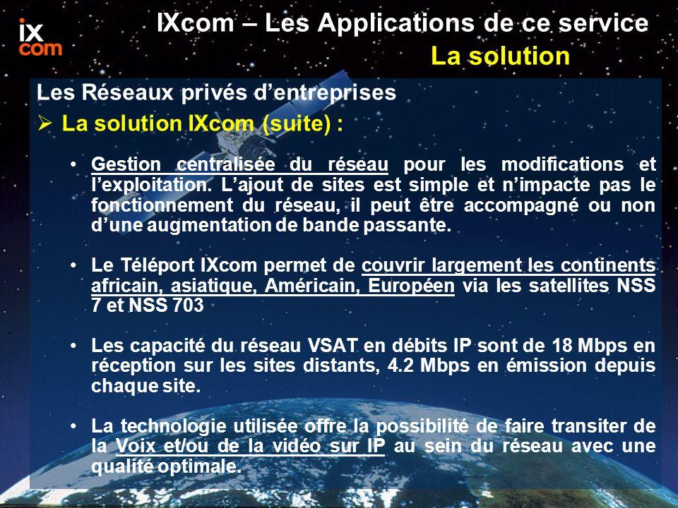  La solution IXcom (suite) : Gestion centralisée du réseau pour les modifications et l'exploitation.