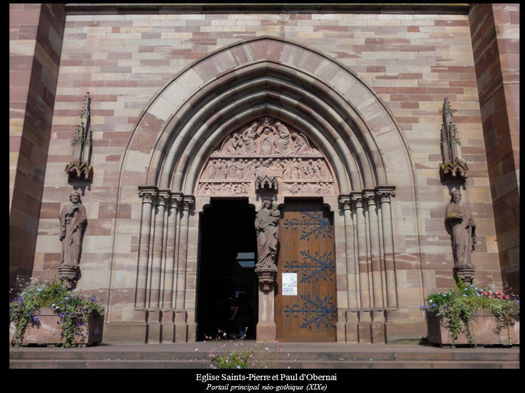 Eglise Saints-Pierre et Paul d'Obernai Portail principal néo-gothique (XIXe)