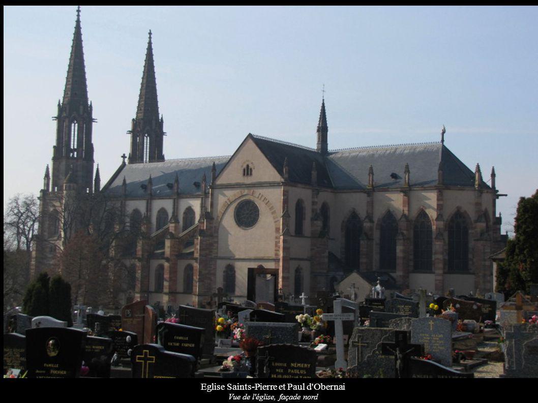 Eglise Saints-Pierre et Paul d'Obernai Vue de l'église, façade nord