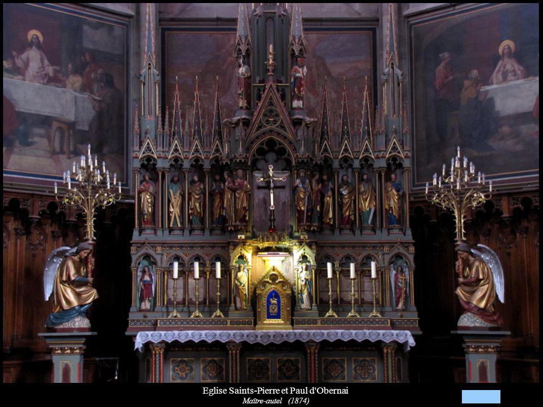 Eglise Saints-Pierre et Paul d'Obernai Maître-autel (1874)