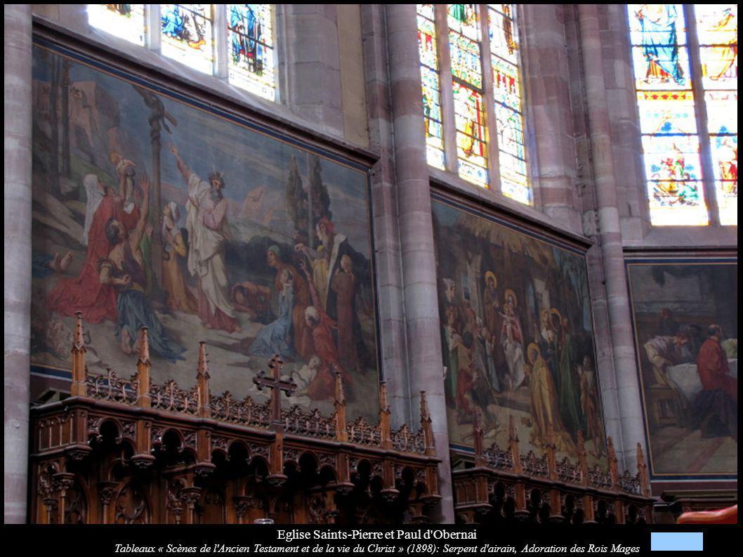 Eglise Saints-Pierre et Paul d'Obernai Tableaux « Scènes de l'Ancien Testament et de la vie du Christ » (1898): Serpent d'airain, Adoration des Rois M