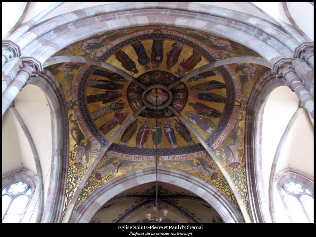 Eglise Saints-Pierre et Paul d'Obernai Plafond de la croisée du transept