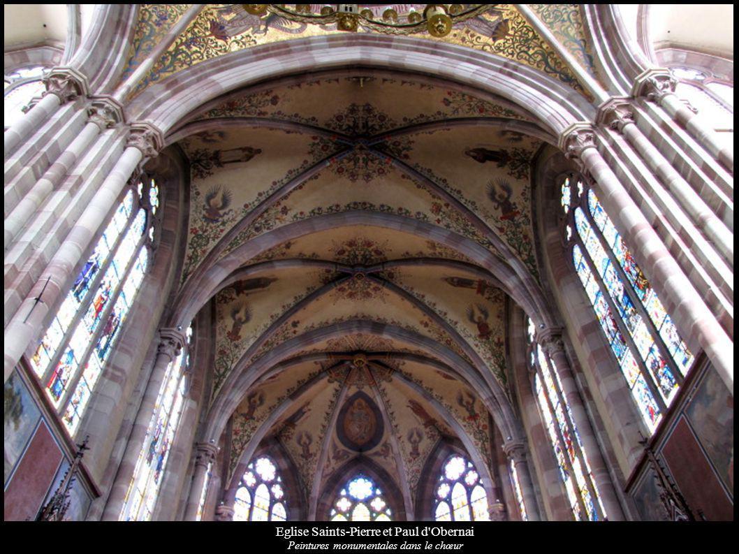 Eglise Saints-Pierre et Paul d'Obernai Peintures monumentales dans le chœur