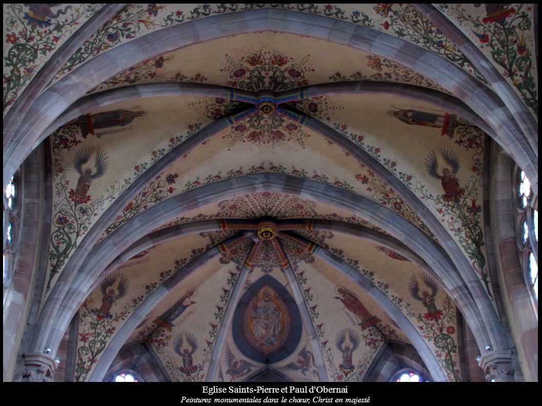 Eglise Saints-Pierre et Paul d'Obernai Peintures monumentales dans le chœur, Christ en majesté
