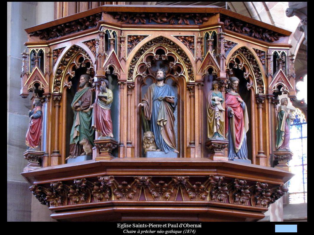 Eglise Saints-Pierre et Paul d'Obernai Chaire à prêcher néo-gothique (1874)