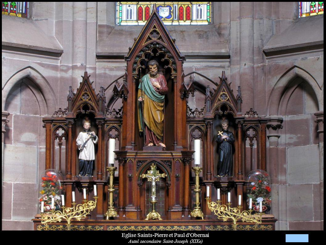 Eglise Saints-Pierre et Paul d'Obernai Autel secondaire Saint-Joseph (XIXe)