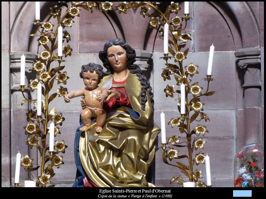 Eglise Saints-Pierre et Paul d'Obernai Copie de la statue « Vierge à l'enfant » (1480)