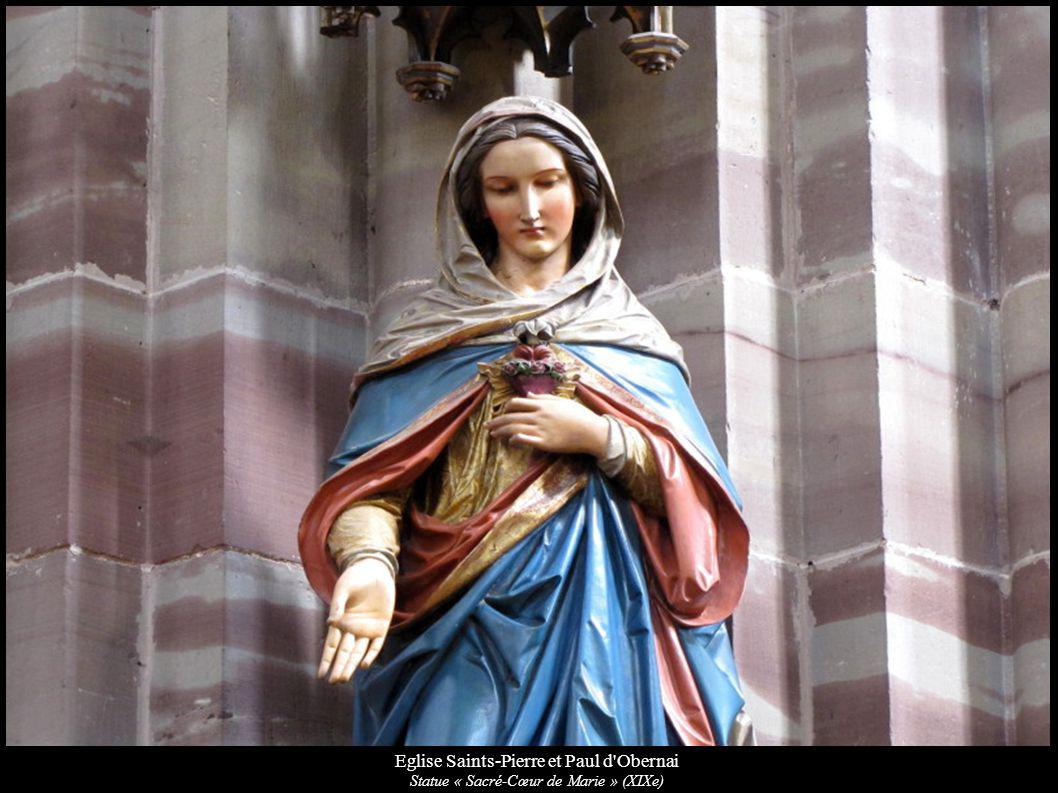 Eglise Saints-Pierre et Paul d'Obernai Statue « Sacré-Cœur de Marie » (XIXe)