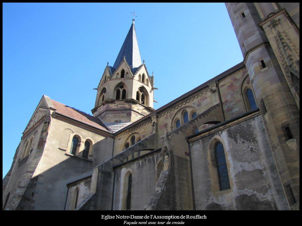 Eglise Notre-Dame de l'Assomption de Rouffach Façade nord avec tour de croisée
