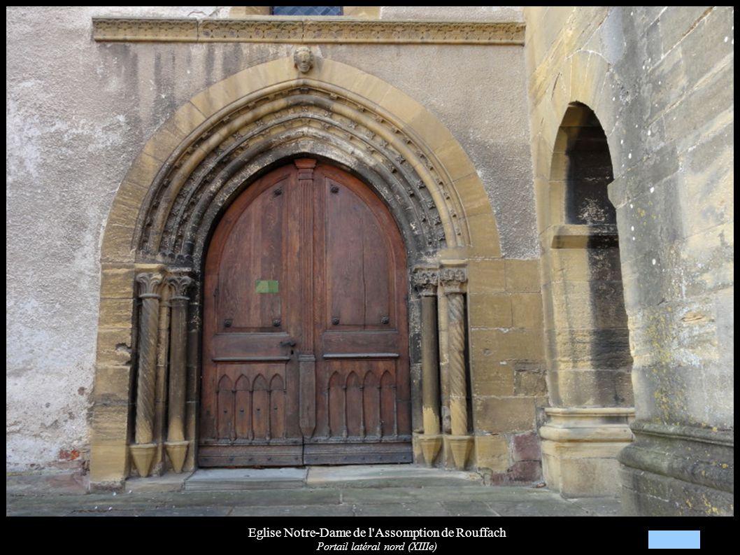 Eglise Notre-Dame de l'Assomption de Rouffach Portail latéral nord (XIIIe)