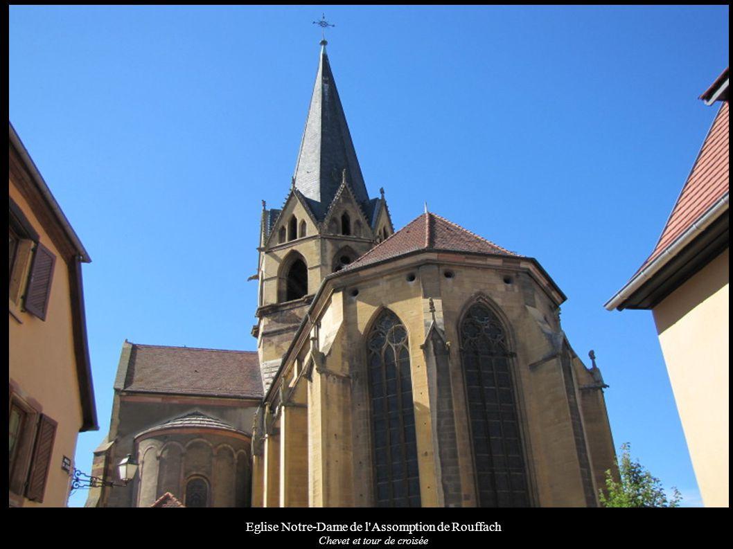 Eglise Notre-Dame de l'Assomption de Rouffach Chevet et tour de croisée