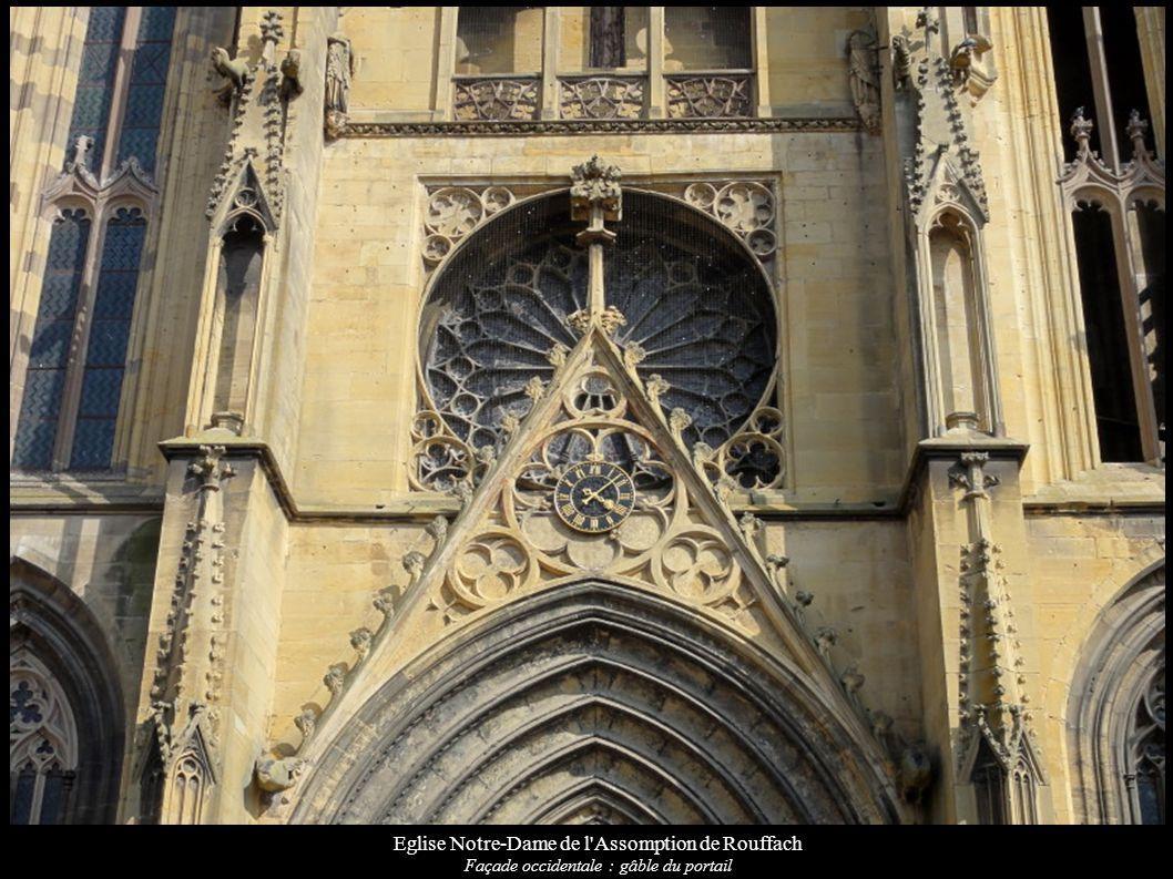 Eglise Notre-Dame de l'Assomption de Rouffach Façade occidentale : gâble du portail