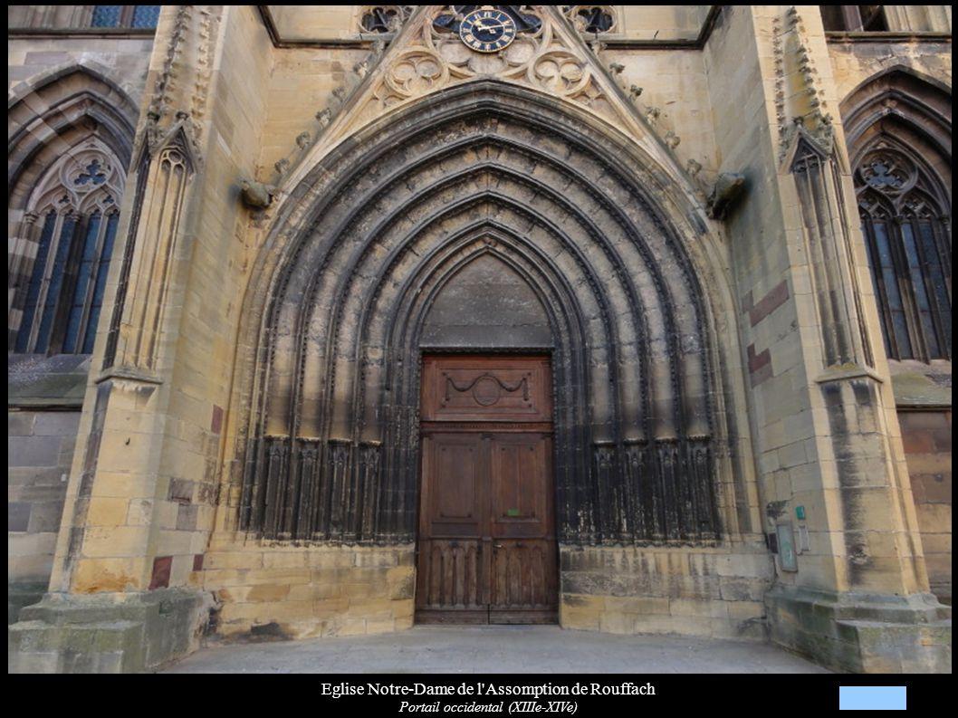 Eglise Notre-Dame de l'Assomption de Rouffach Portail occidental (XIIIe-XIVe)