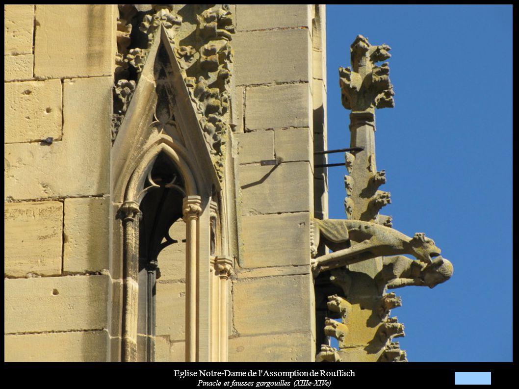 Eglise Notre-Dame de l'Assomption de Rouffach Pinacle et fausses gargouilles (XIIIe-XIVe)