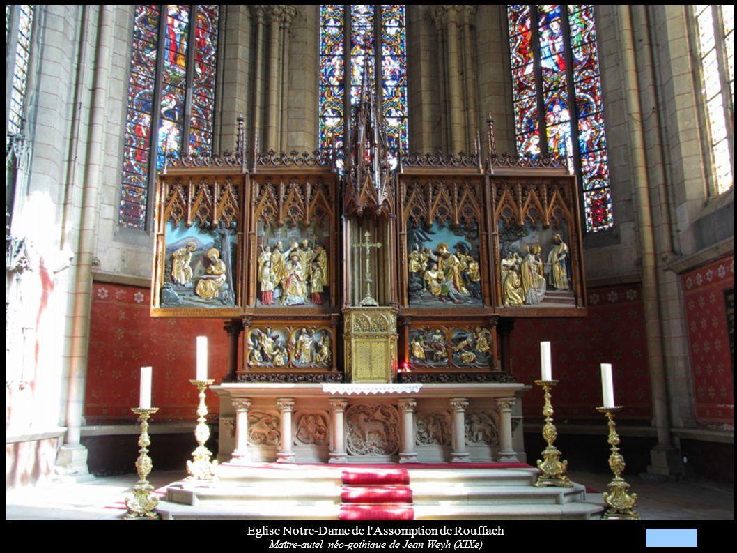 Eglise Notre-Dame de l'Assomption de Rouffach Maître-autel néo-gothique de Jean Weyh (XIXe)