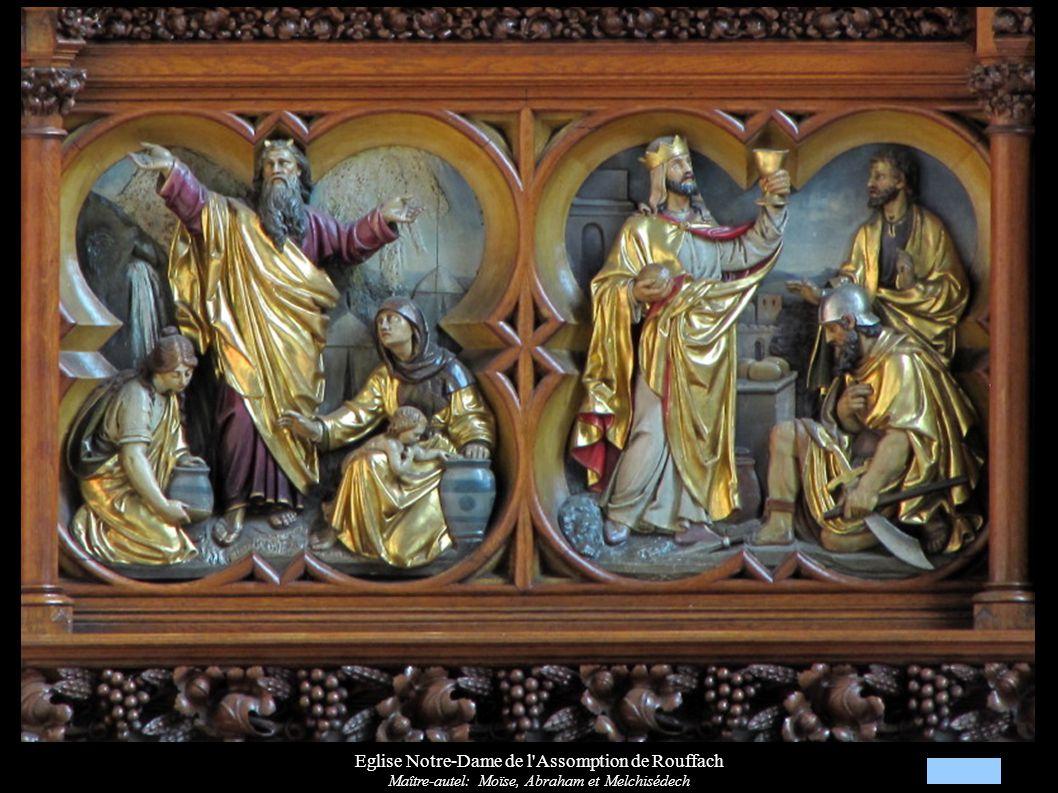 Eglise Notre-Dame de l'Assomption de Rouffach Maître-autel: Moïse, Abraham et Melchisédech