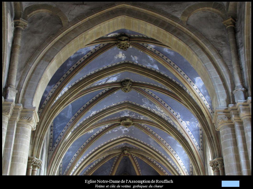 Eglise Notre-Dame de l'Assomption de Rouffach Voûtes et clés de voûtes gothiques du chœur