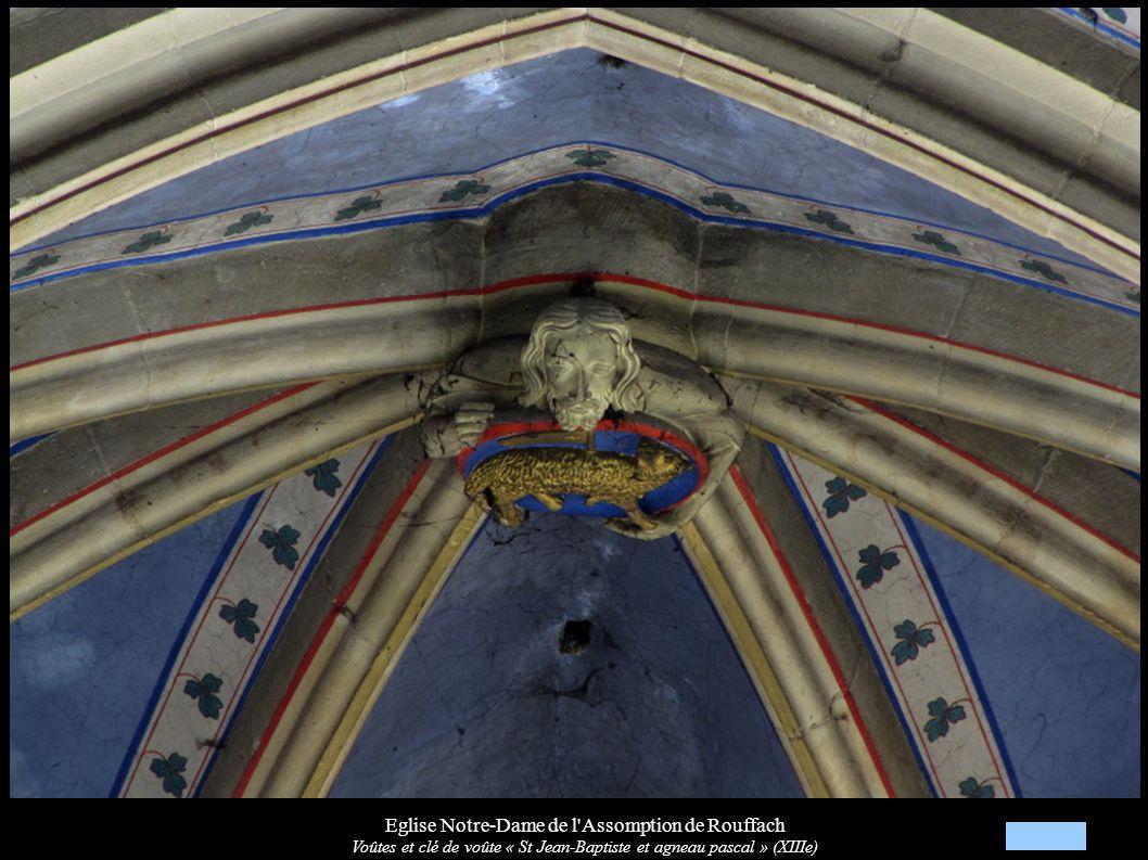 Eglise Notre-Dame de l'Assomption de Rouffach Voûtes et clé de voûte « St Jean-Baptiste et agneau pascal » (XIIIe)