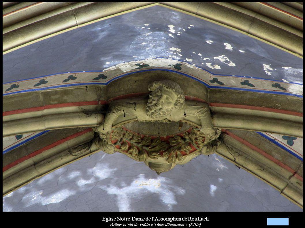 Eglise Notre-Dame de l'Assomption de Rouffach Voûtes et clé de voûte « Têtes d'humains » (XIIIe)
