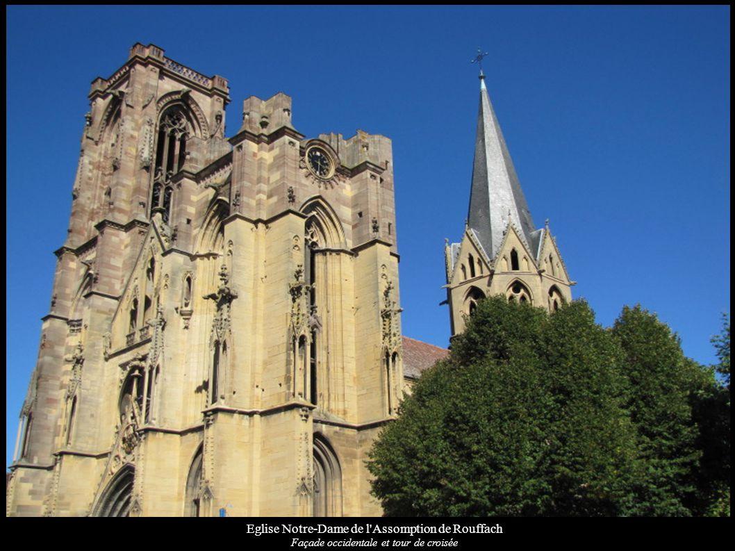 Eglise Notre-Dame de l Assomption de Rouffach Façade Sud de la nef avec contrefort WIKIPEDIA: WIKIMEDIA: MERIMEE: