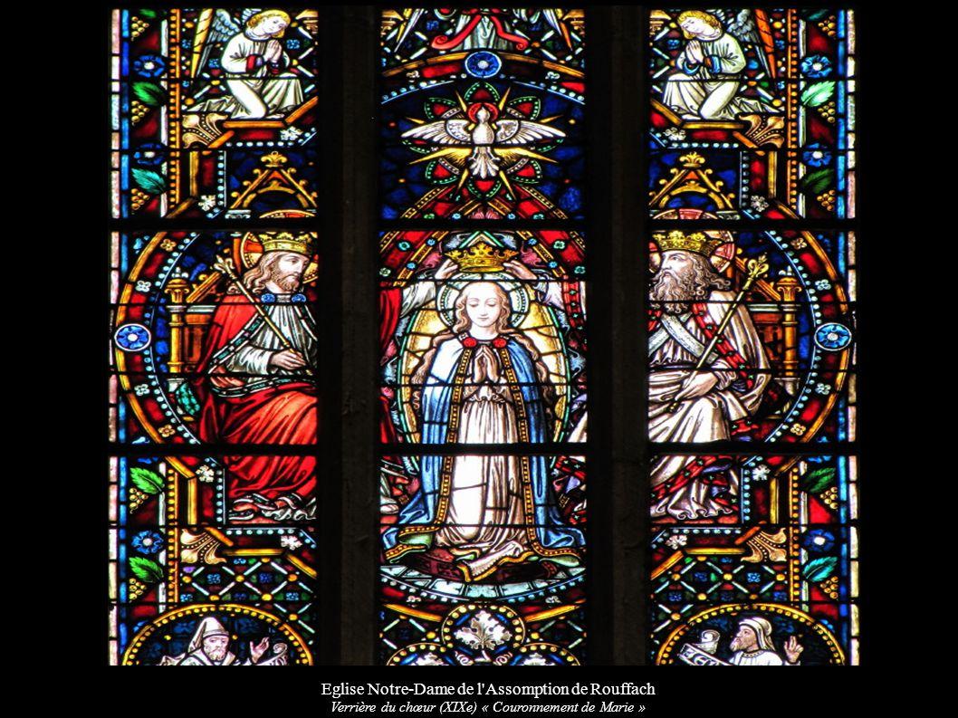 Eglise Notre-Dame de l'Assomption de Rouffach Verrière du chœur (XIXe) « Couronnement de Marie »