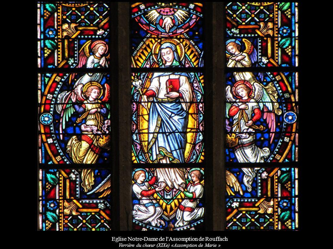 Eglise Notre-Dame de l'Assomption de Rouffach Verrière du chœur (XIXe) «Assomption de Marie »