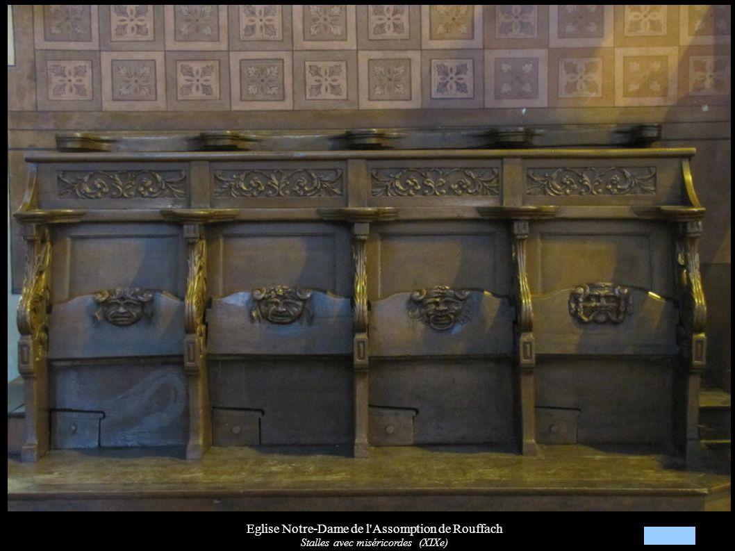 Eglise Notre-Dame de l'Assomption de Rouffach Stalles avec miséricordes (XIXe)