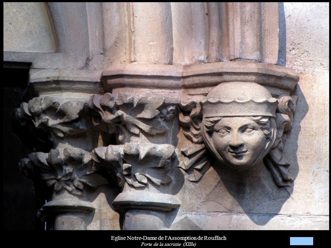 Eglise Notre-Dame de l'Assomption de Rouffach Porte de la sacristie (XIIIe)