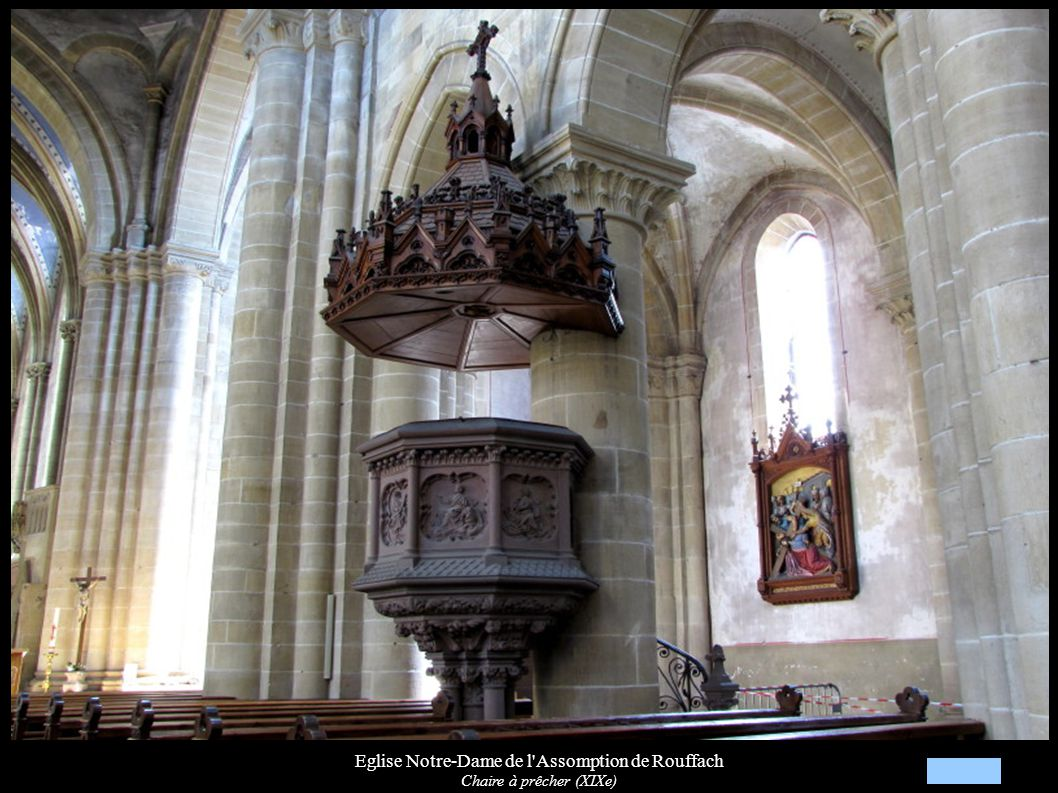 Eglise Notre-Dame de l'Assomption de Rouffach Chaire à prêcher (XIXe)