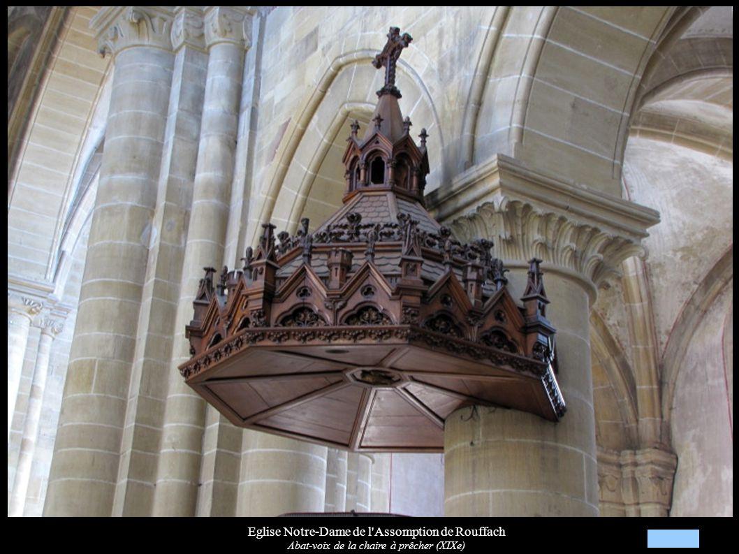 Eglise Notre-Dame de l'Assomption de Rouffach Abat-voix de la chaire à prêcher (XIXe)