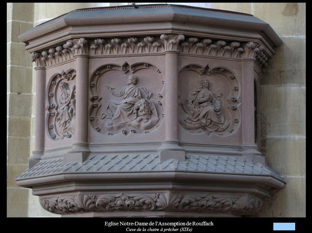 Eglise Notre-Dame de l'Assomption de Rouffach Cuve de la chaire à prêcher (XIXe)