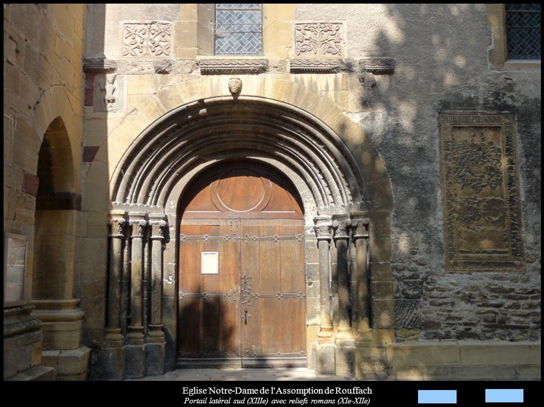 Eglise Notre-Dame de l Assomption de Rouffach Voûtes et clé de voûte « St Jean-Baptiste et agneau pascal » (XIIIe)