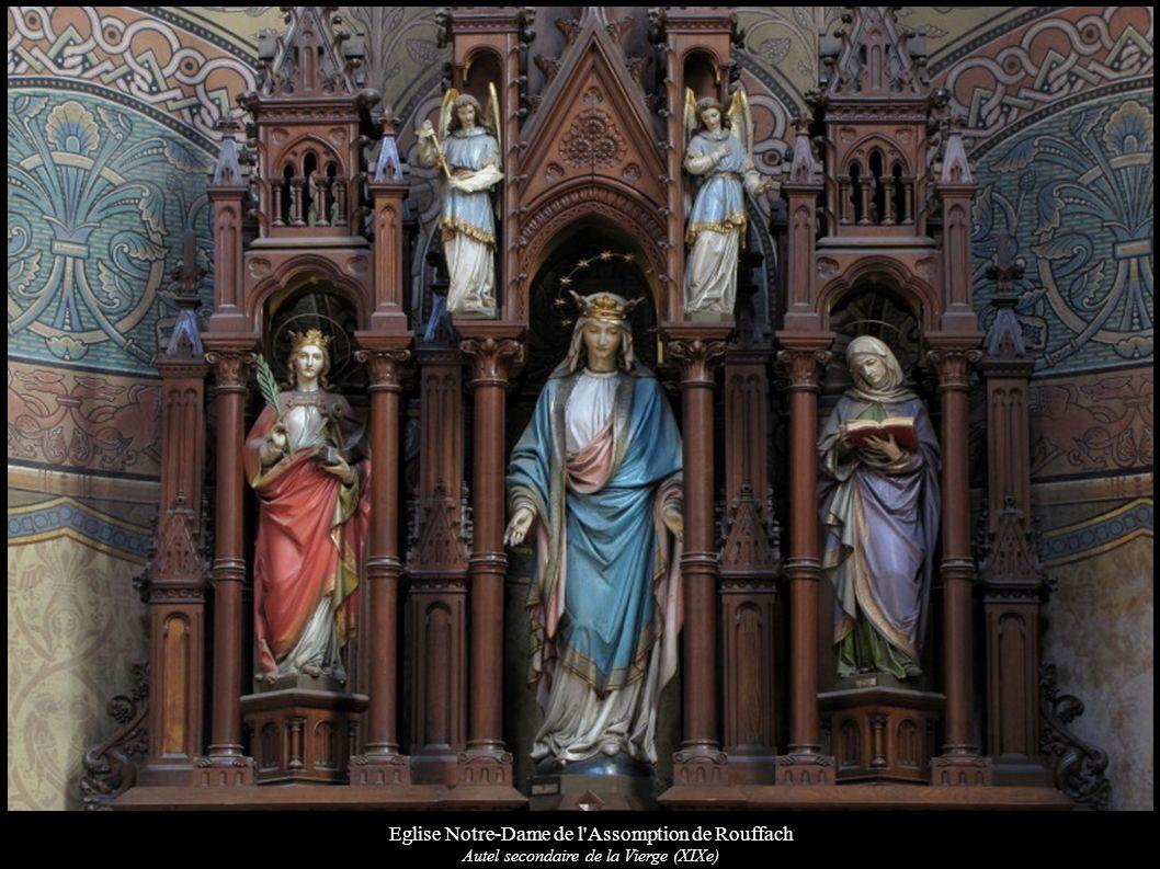 Eglise Notre-Dame de l'Assomption de Rouffach Autel secondaire de la Vierge (XIXe)