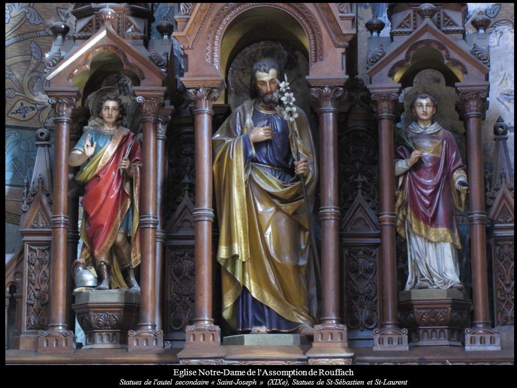 Eglise Notre-Dame de l'Assomption de Rouffach Statues de l'autel secondaire « Saint-Joseph » (XIXe), Statues de St-Sébastien et St-Laurent