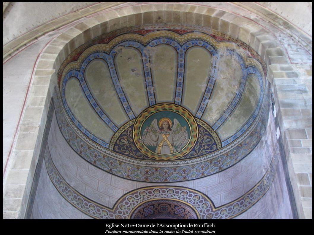 Eglise Notre-Dame de l'Assomption de Rouffach Peinture monumentale dans la niche de l'autel secondaire