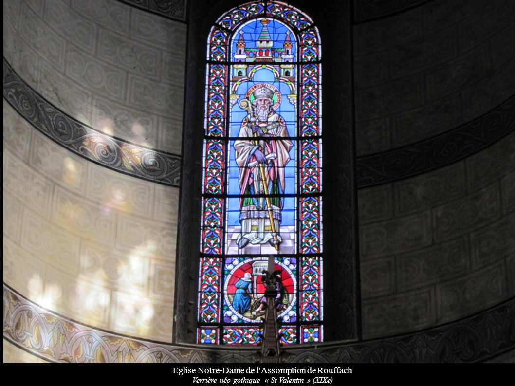 Eglise Notre-Dame de l'Assomption de Rouffach Verrière néo-gothique « St-Valentin » (XIXe)