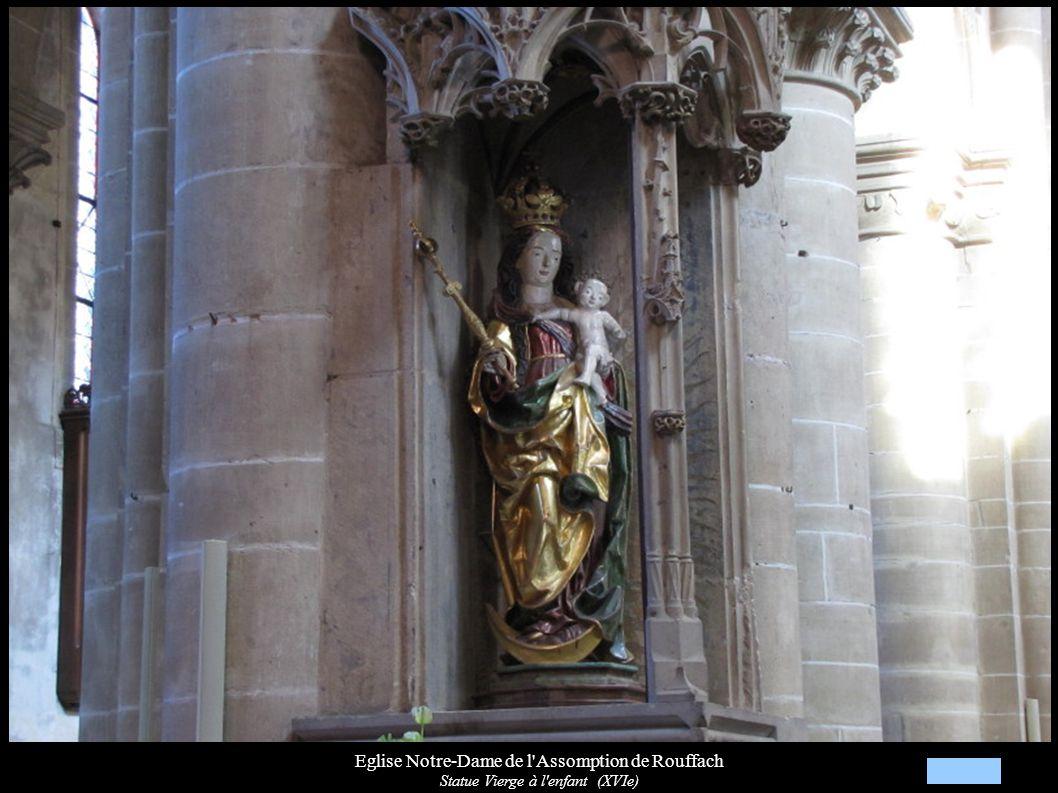 Eglise Notre-Dame de l'Assomption de Rouffach Statue Vierge à l'enfant (XVIe)
