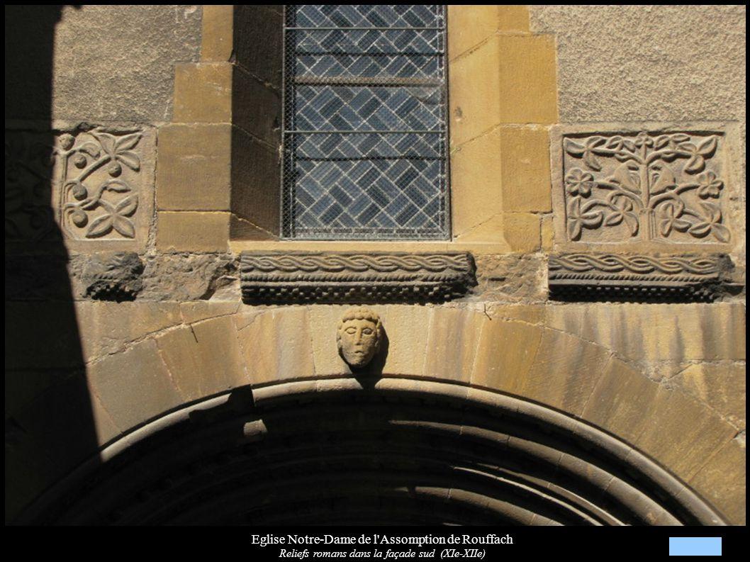 Eglise Notre-Dame de l Assomption de Rouffach Voûtes et clé de voûte « Têtes d humains » (XIIIe)