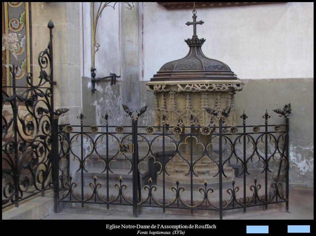 Eglise Notre-Dame de l'Assomption de Rouffach Fonts baptismaux (XVIe)