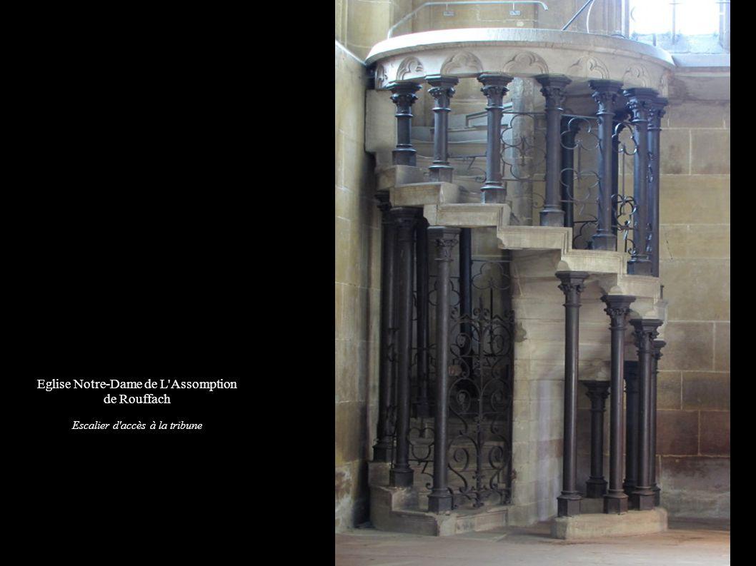 Eglise Notre-Dame de L'Assomption de Rouffach Escalier d'accès à la tribune