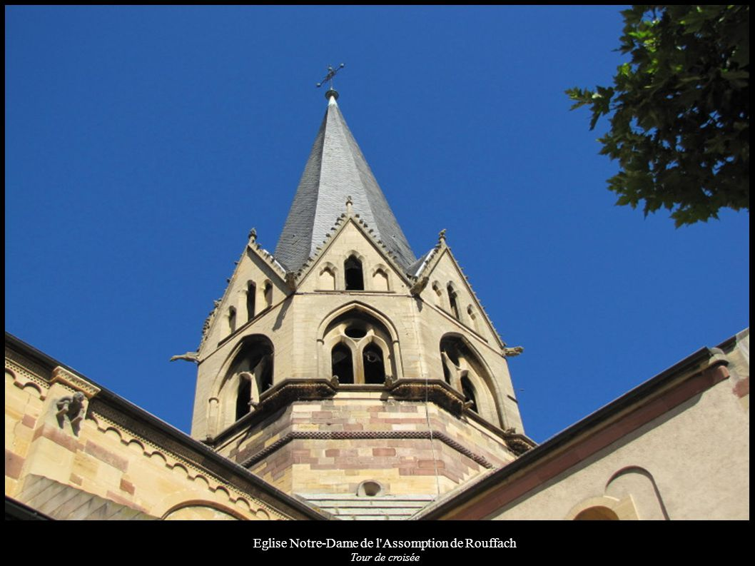 Eglise Notre-Dame de l Assomption de Rouffach, Culot du chœur (XIIIe) Personnage tenu par un diable disparu le forçant à boire et à avaler de l argent; de part et d autre les symboles des Evangélistes