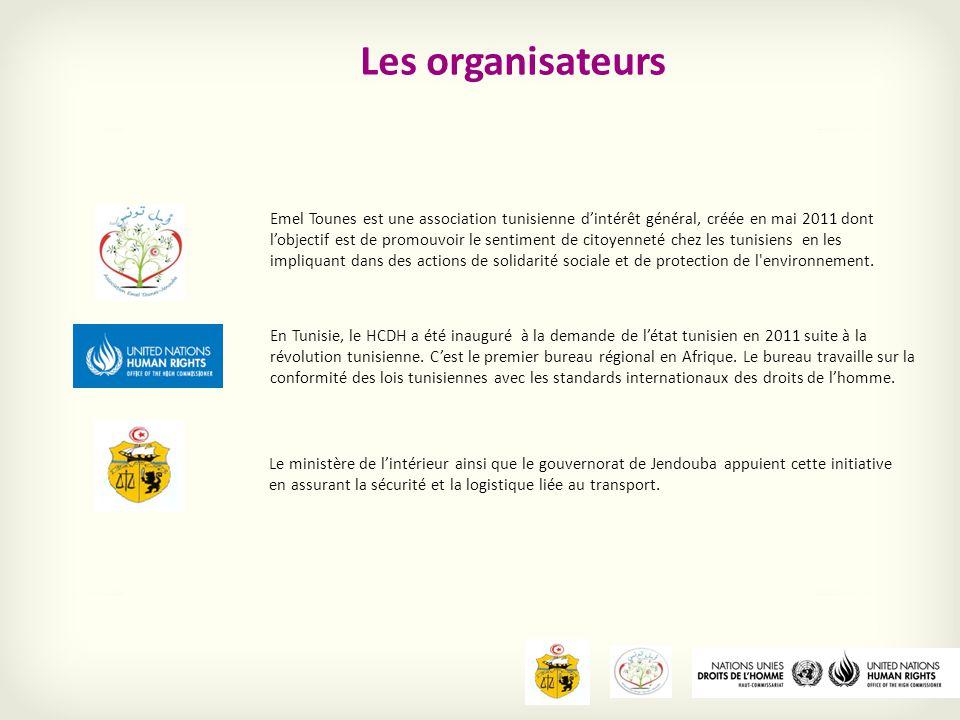 28 mobilisateurs sélectionné selon leur engagement dans la société civile, leur réseau de connaissance et leurs implication dans les évènements humanitaires sont répartis sur les 24 gouvernorats.