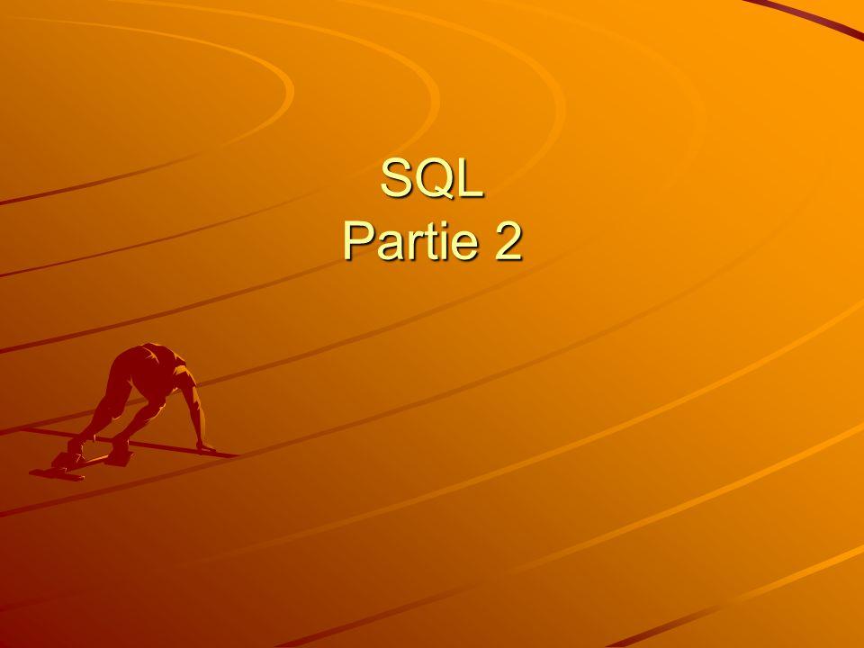 SQL Partie 2