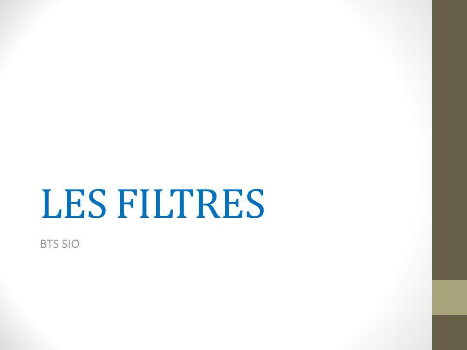 Les filtres (1) Les filtres permettent de limiter simplement, de façon temporaire, les enregistrements affichés dans une table.