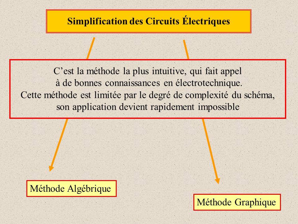 Simplification des Circuits Électriques C'est la méthode la plus intuitive, qui fait appel à de bonnes connaissances en électrotechnique. Cette méthod
