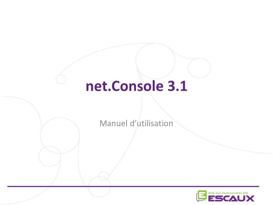 net.Console 3.1 Manuel d'utilisation