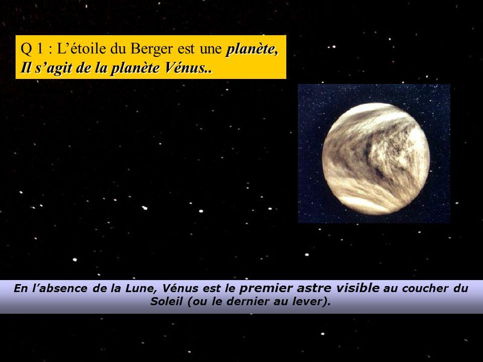 5 planètes.Q 2 : La nuit, à l'œil nu, on peut voir jusqu'à 5 planètes.