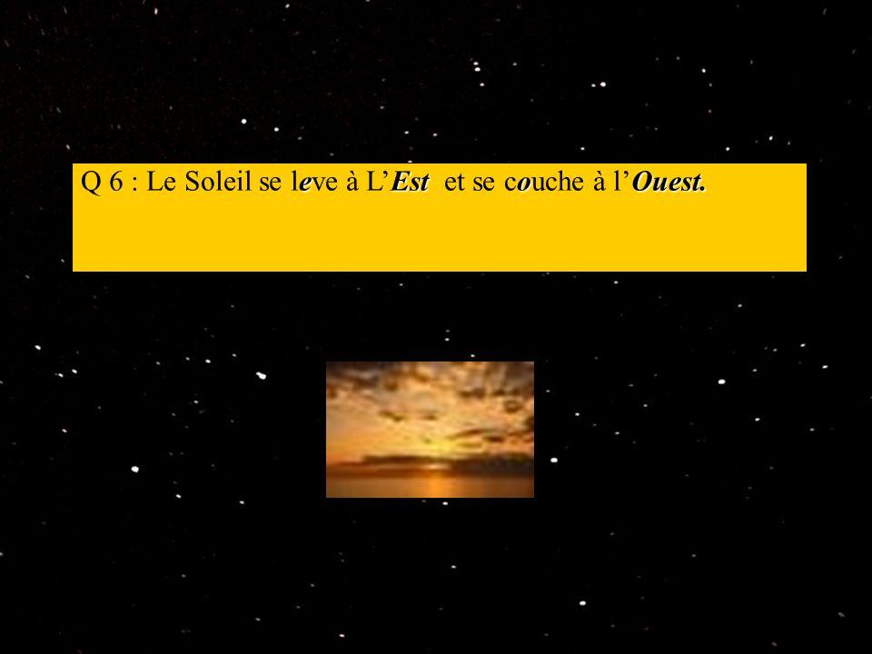 8 planètes Q 7 : Il y a 8 planètes dans le système solaire.