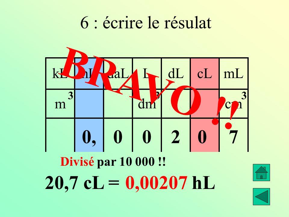 0 kLdaLhLLcLdLmL mdmcm 333 270 00, 20,7 cL =.……… hL  01000